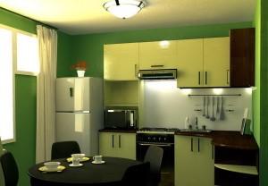 дизайн 9метровой кухни