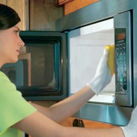 отчистить микроволновку