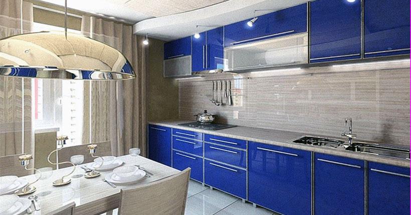 интерьер кухни 9м