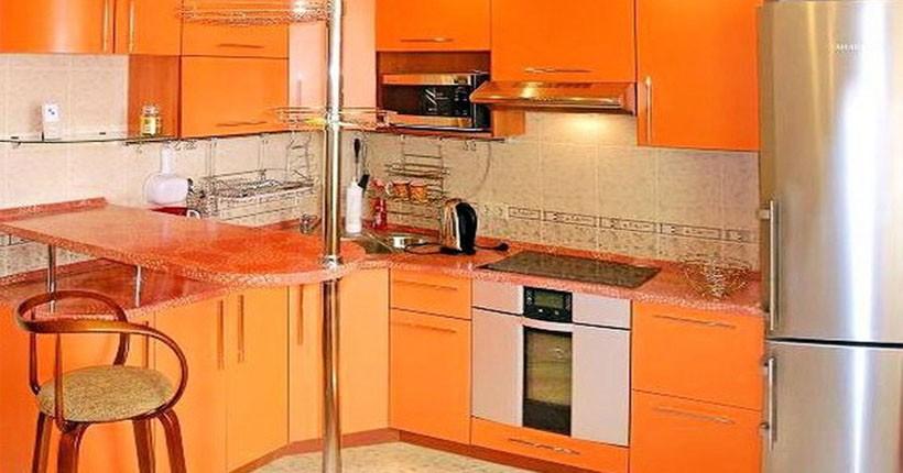 Интерьер маленькой кухни, площадью 9 кв. м.