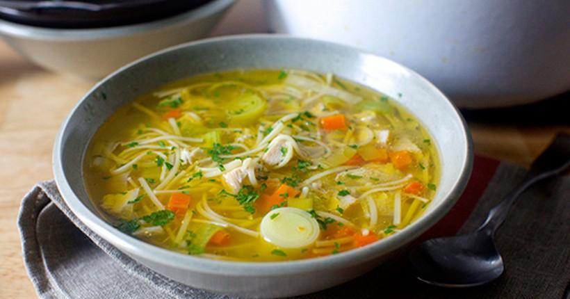 Самый вкусный куриный суп с лапшой