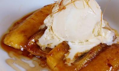 Быстрый десерт из бананов: бананы фламбе