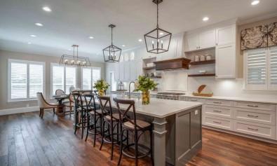 Освещение на кухне: сочетание естественного, зонального и специального освещения