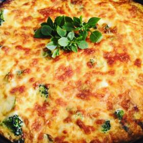 Итальянская фриттата с овощами в духовке