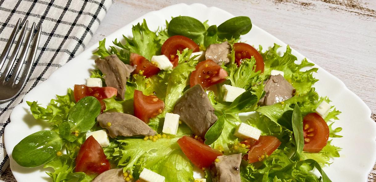 Салат с печенью трески простой и очень вкусный