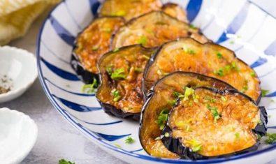 Вкусные не жирные жареные баклажаны